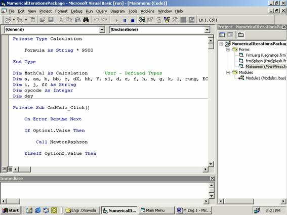 The Application of Visual Basic Computer Programming Language to ...